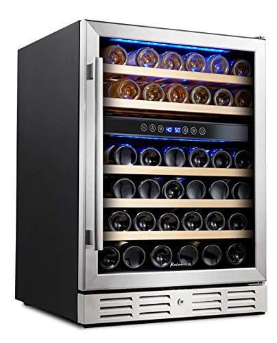 Kalamera 46 Bottle Dual Zone Wine Cooler