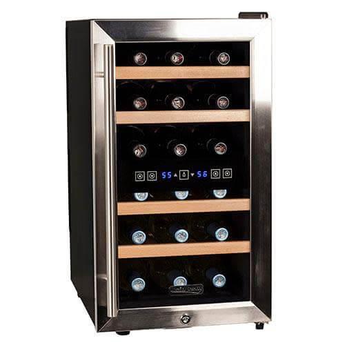 Koldfront 18 Bottle Dual Zone Wine Cooler (TWR187ESS)