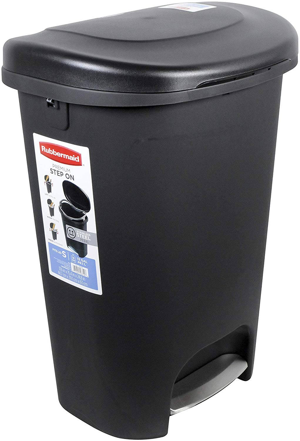 Rubbermaid Step On 13 Gallon Trash Can