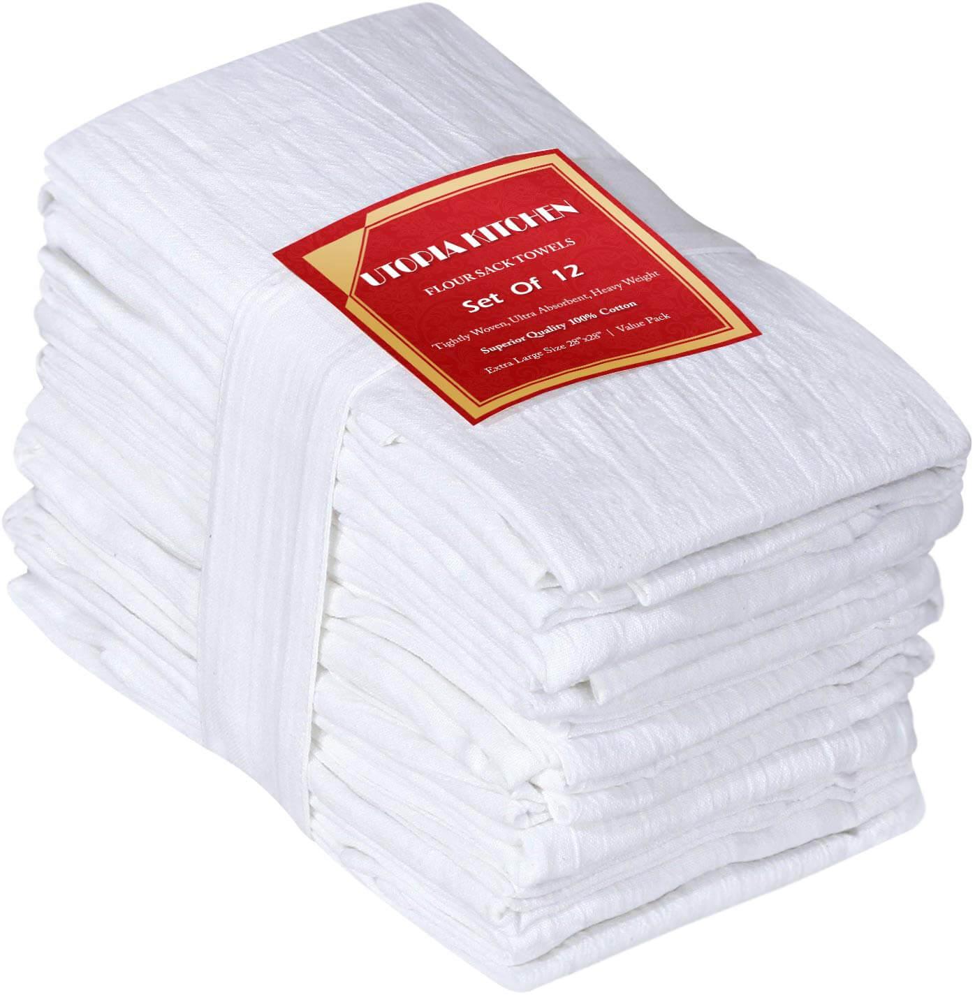 Utopia Kitchen 12 Pack Flour Sack Kitchen Towels