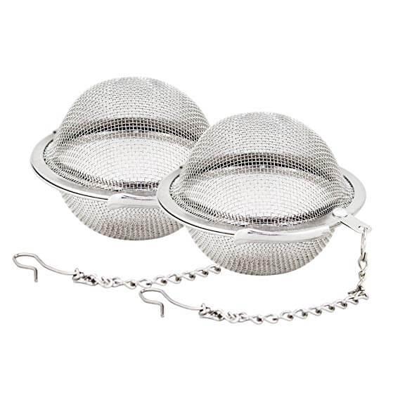 Fu Store 2pcs Stainless Steel Mesh Tea Ball