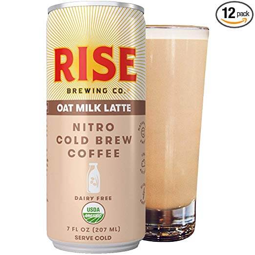 Rise Brewing Co. Oat Milk Latte – Nitro Cold Brew Latte