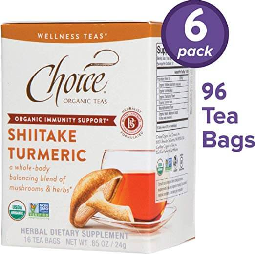 Choice Organic Teas Shiitake Turmeric