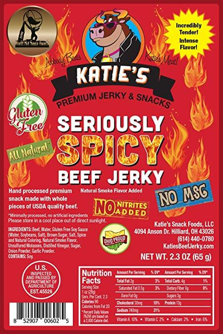 Katie's Seriously Spicy Beef Jerky