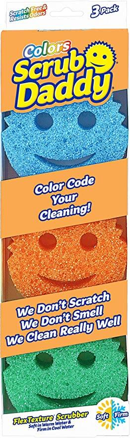 Scrub Daddy - Scratch Free Color Sponge with Flex Texture
