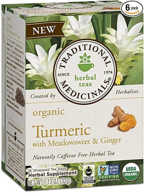 Traditional Medicinals Organic Turmeric with Meadowsweet & Ginger Tea