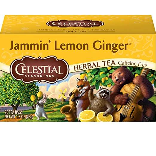 Celestial Seasonings Herbal Tea Jammin' Lemon Ginger