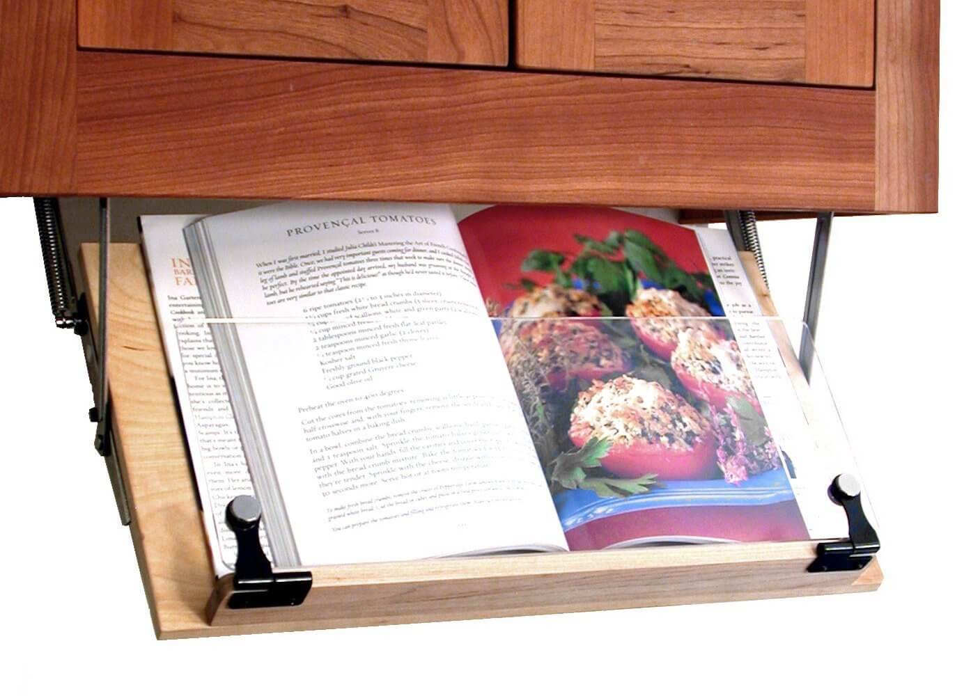 Clear Solutions Under Cabinet Mounted Cookbook Holder