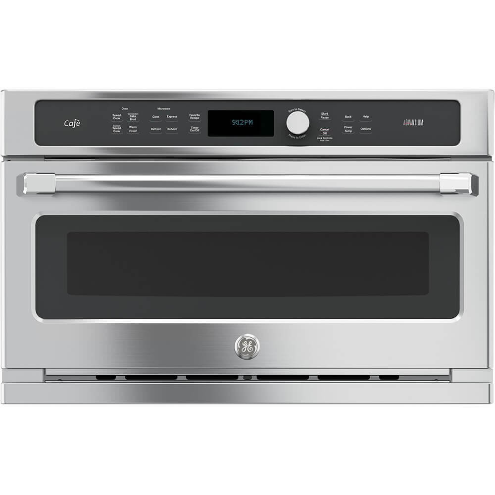 GE CSB9120SJSS Cafe Advantium 30 Stainless Steel Electric Single Wall Oven - Convection