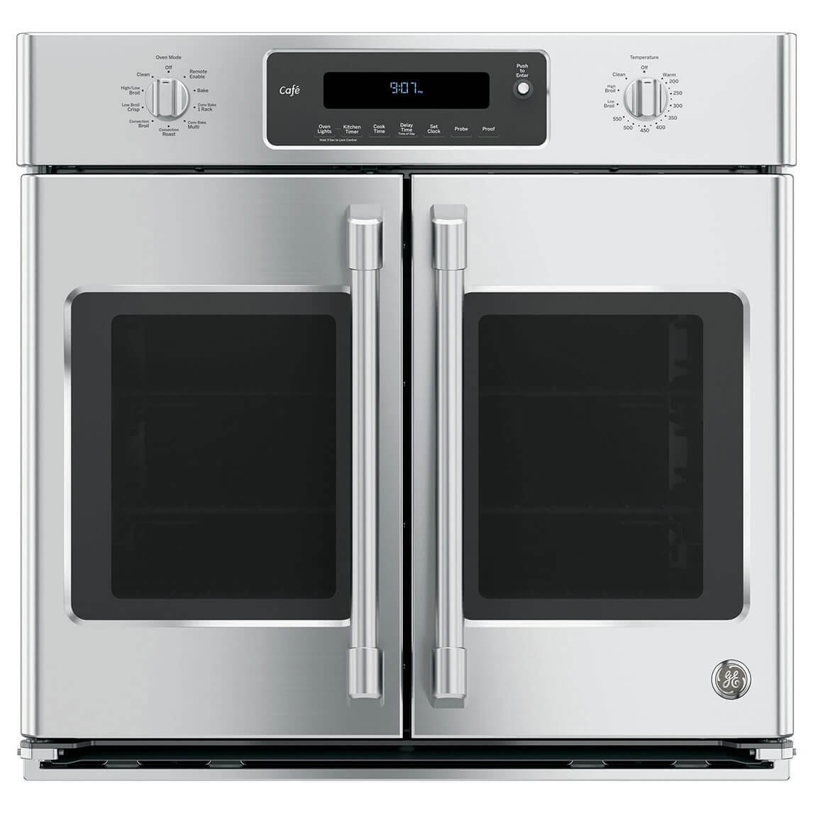 GE Cafe CT9070SHSS 30 Single French Door Electric Wall Oven