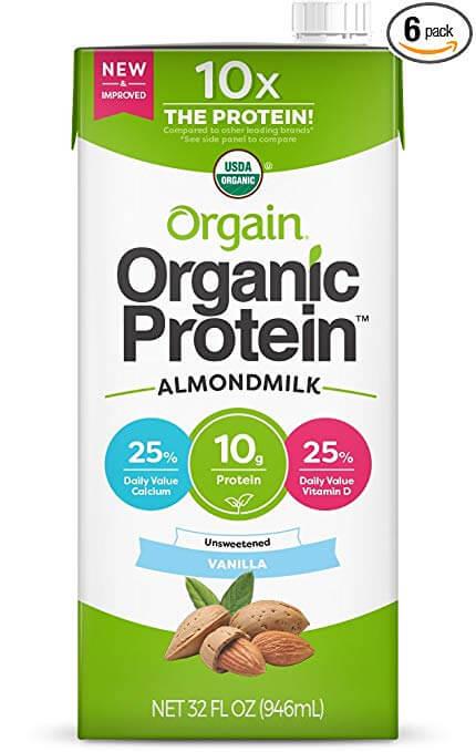 Orgain Organic Plant Based Protein Almond Milk