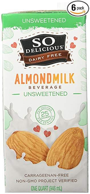 So Delicious Dairy Free Almondmilk Beverage Unsweetened