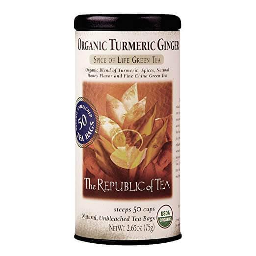 The Republic of Tea Organic Turmeric Ginger Green Tea