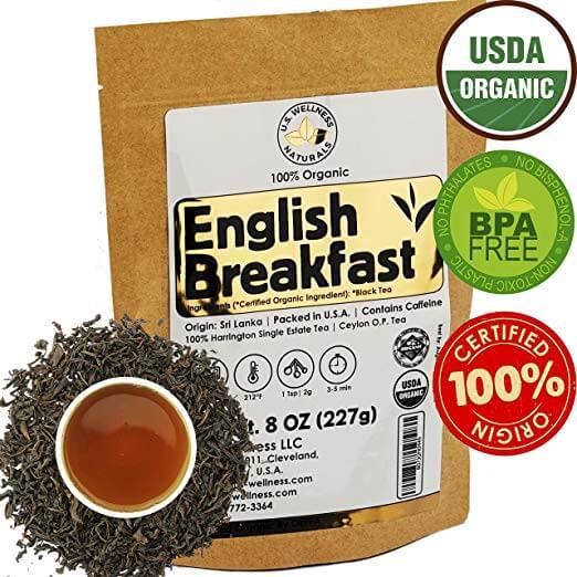 U.S. Wellness Naturals Organic English Breakfast Tea