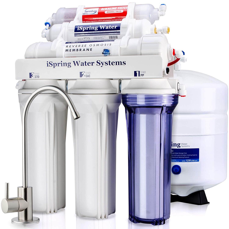 iSpring RCC7AK 6-Stage Under Sink Reverse Osmosis Drinking Water Filter System
