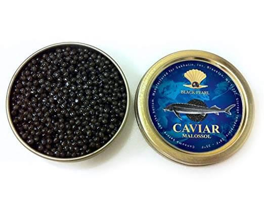 Black Pearl Ossetra Sturgeon caviar