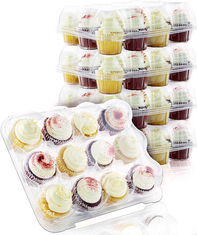 Chefible Premium Plastic Cupcake Carrier