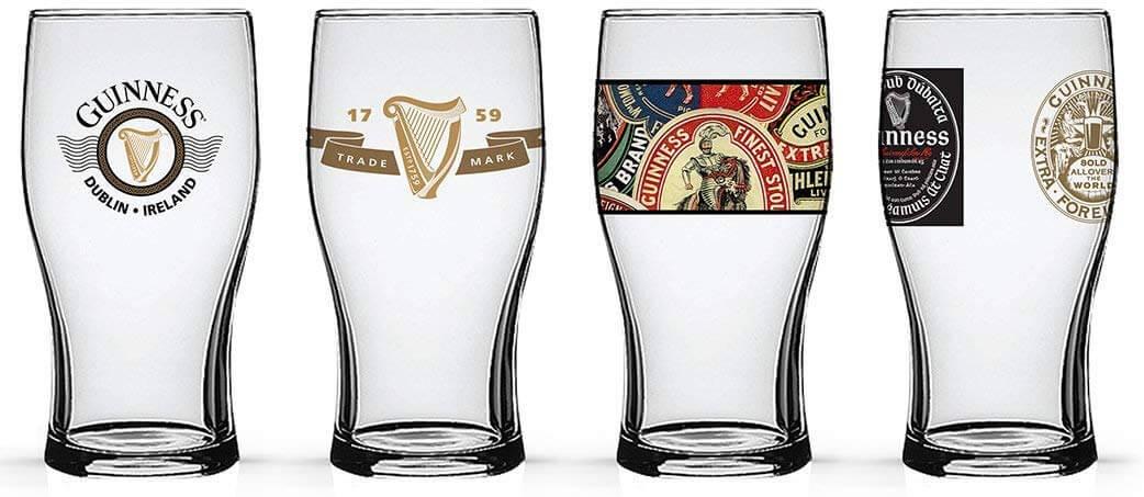 Guinness Beer Tulip Pub Pint Glasses