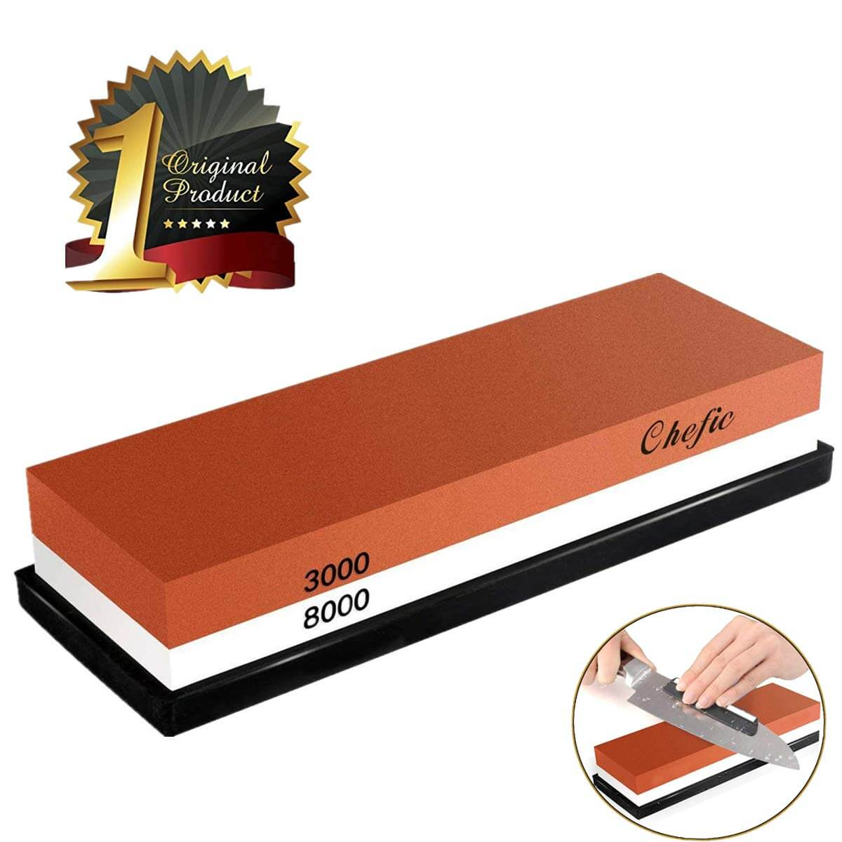 BearMoo Whetstone Premium 2-IN-1 Sharpening Stone