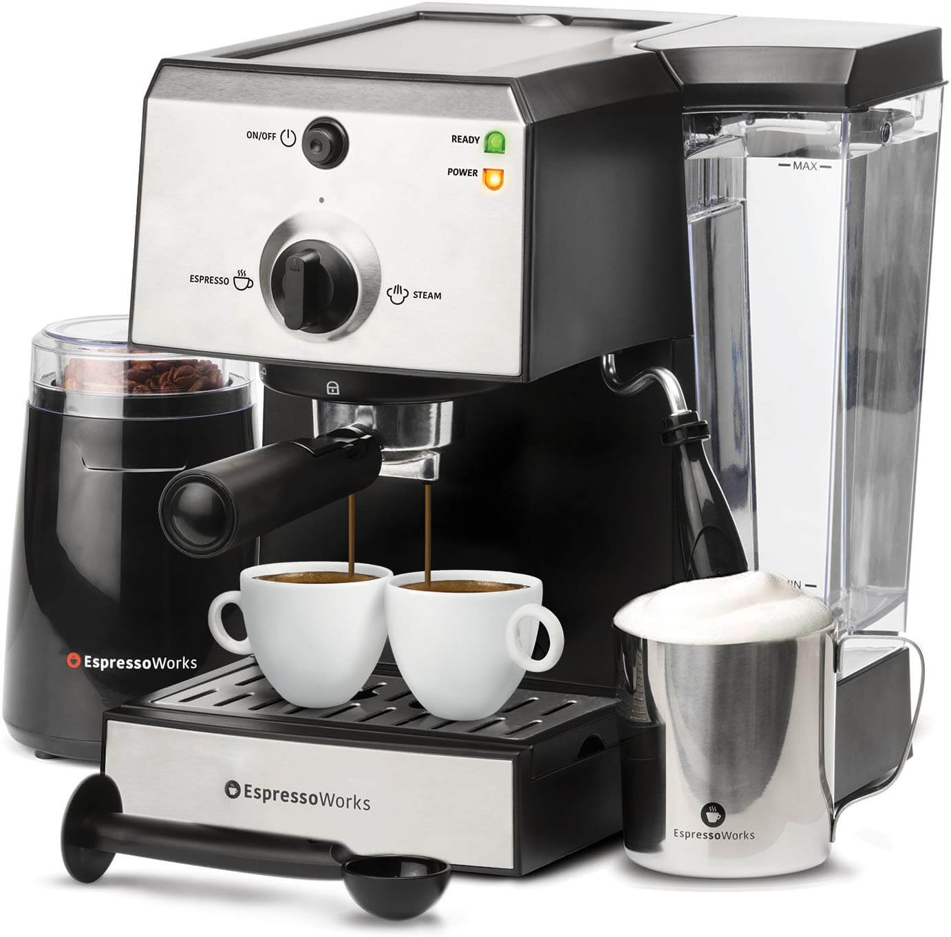 EspressoWorks All-In-One Espresso Machine and Cappuccino Maker