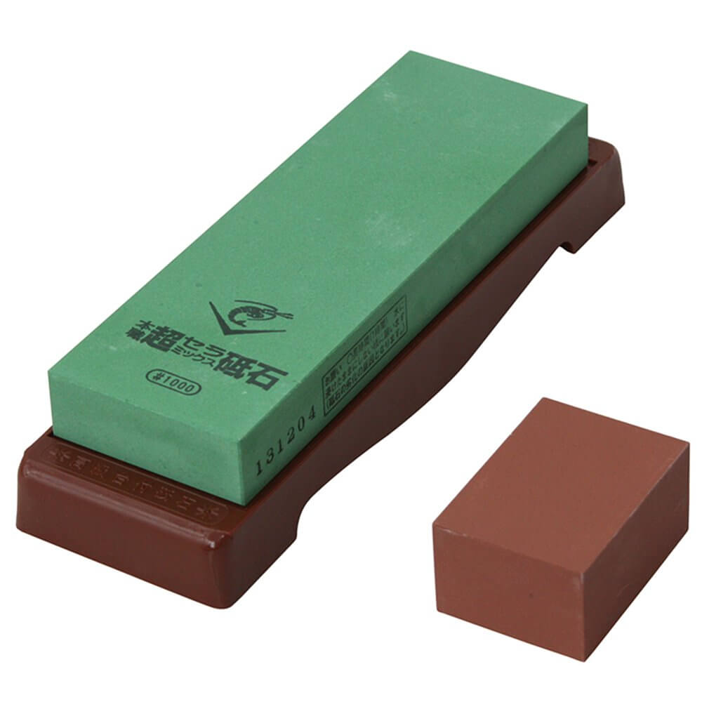 Naniwa 1,000 Grit Super Ceramic Water Stone with a Base
