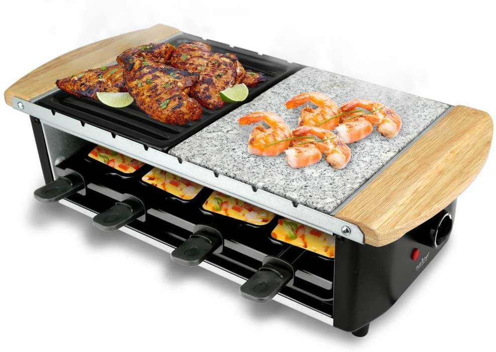 NutriChef Eight Person Raclette Grill