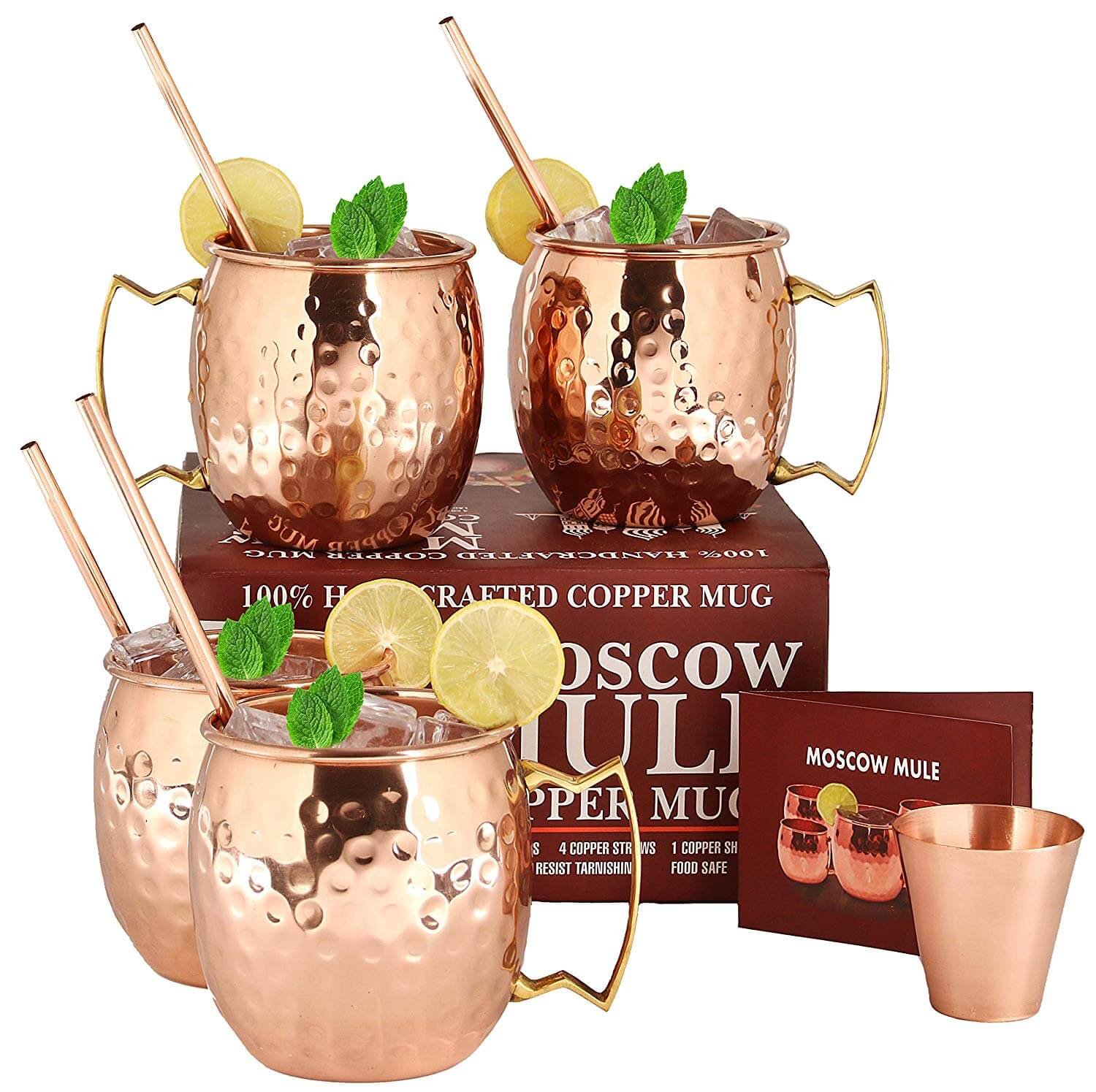 A29 Handcrafted Moscow Mule Copper Mugs