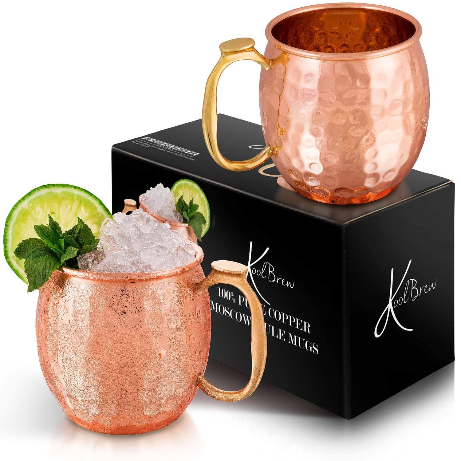 KoolBrew Moscow Mule Copper Mugs