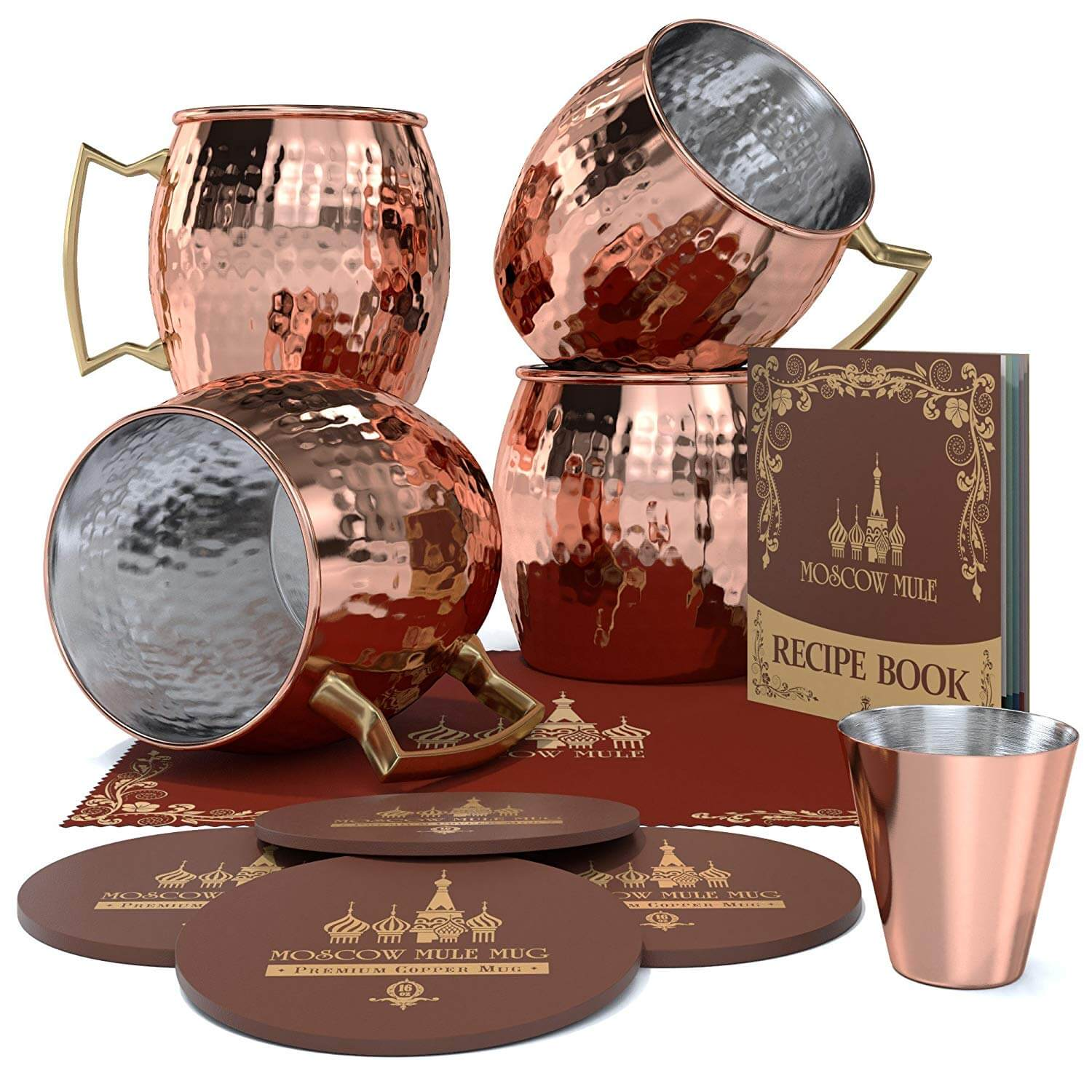 Krown Kitchen Moscow Mule Copper Mug Set