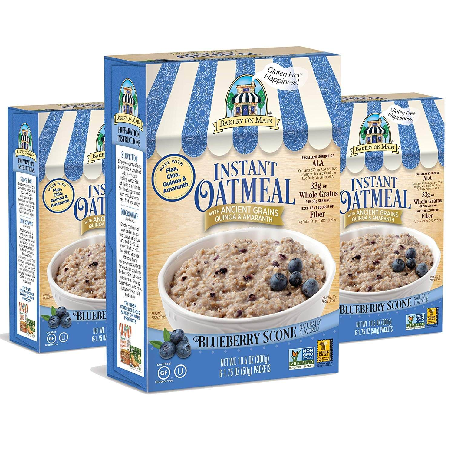 Bakery on Main Ancient Grains Gluten Free Instant Oatmeal
