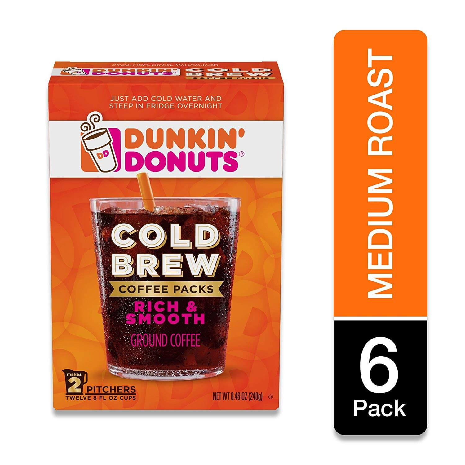 Dunkin' Donuts Cold Brew Coffee Packs