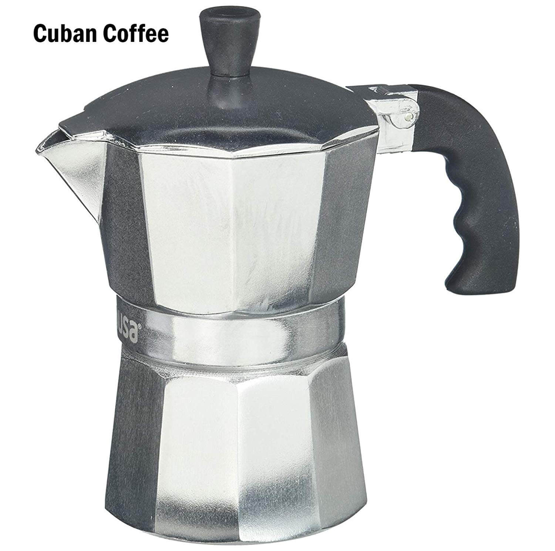 IMUSA USA B120-42V Aluminum Espresso Stovetop Coffeemaker