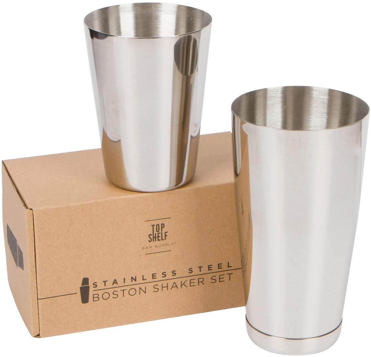TOP SHELF BAR SUPPLY Premium Cocktail Shaker Set