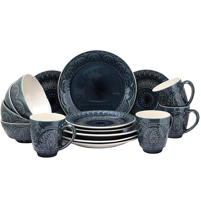 Elama Petra 16 Piece Dinnerware Set