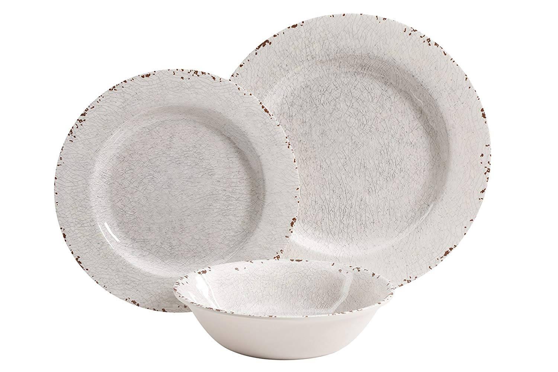 Gibson Studio Melamine 12 Piece Dinnerware Set