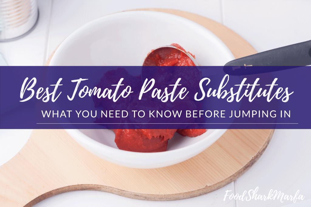 Best Tomato Paste Substitutes