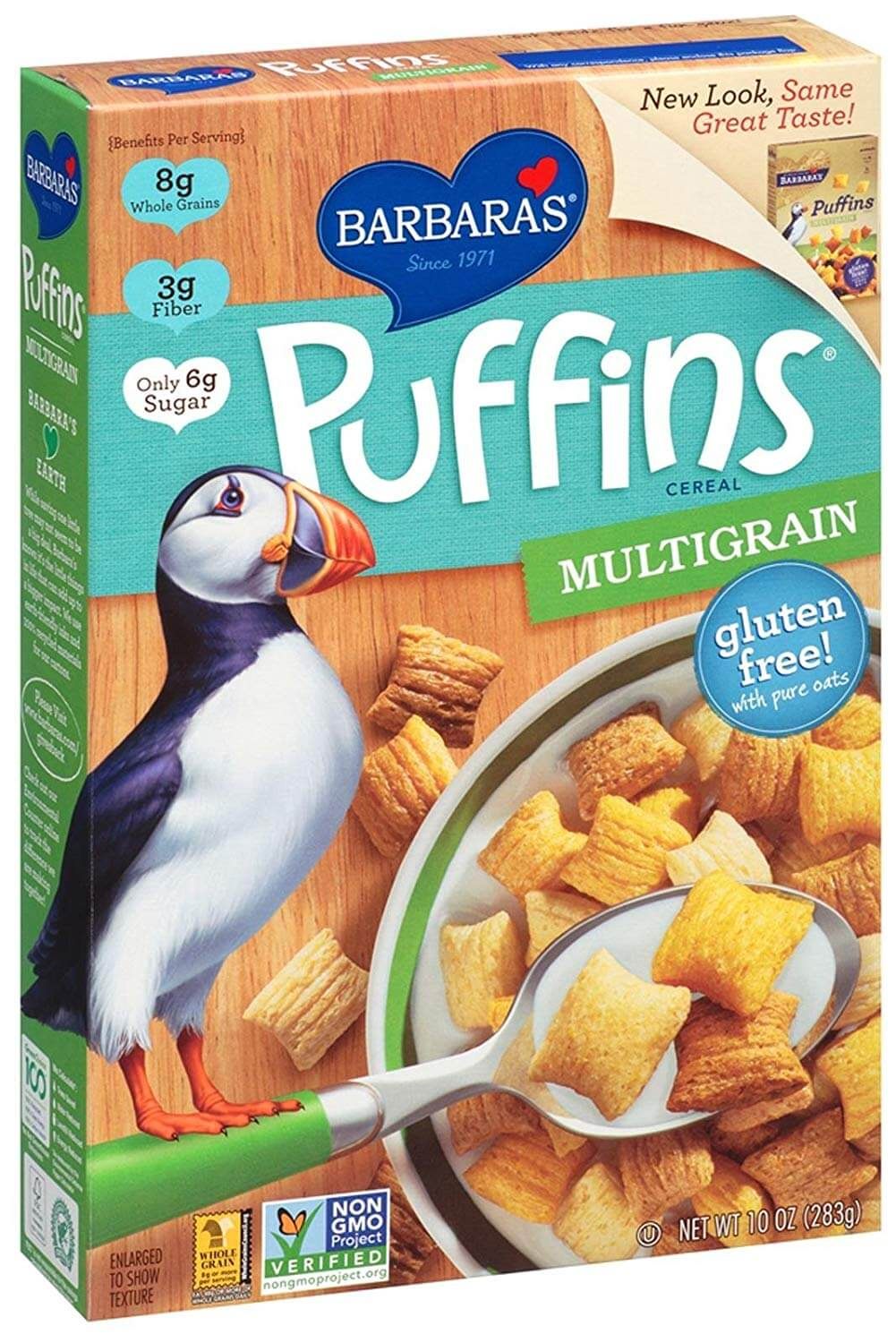 Three Sisters Barbara's Puffins Multigrain Cereal