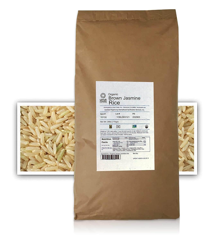 Lotus Foods Gourmet Brown Jasmine Rice