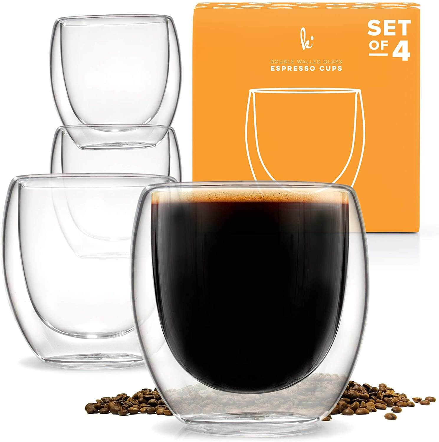 ​Kitchables Double-Wall Thermo-Insulated Espresso Cups
