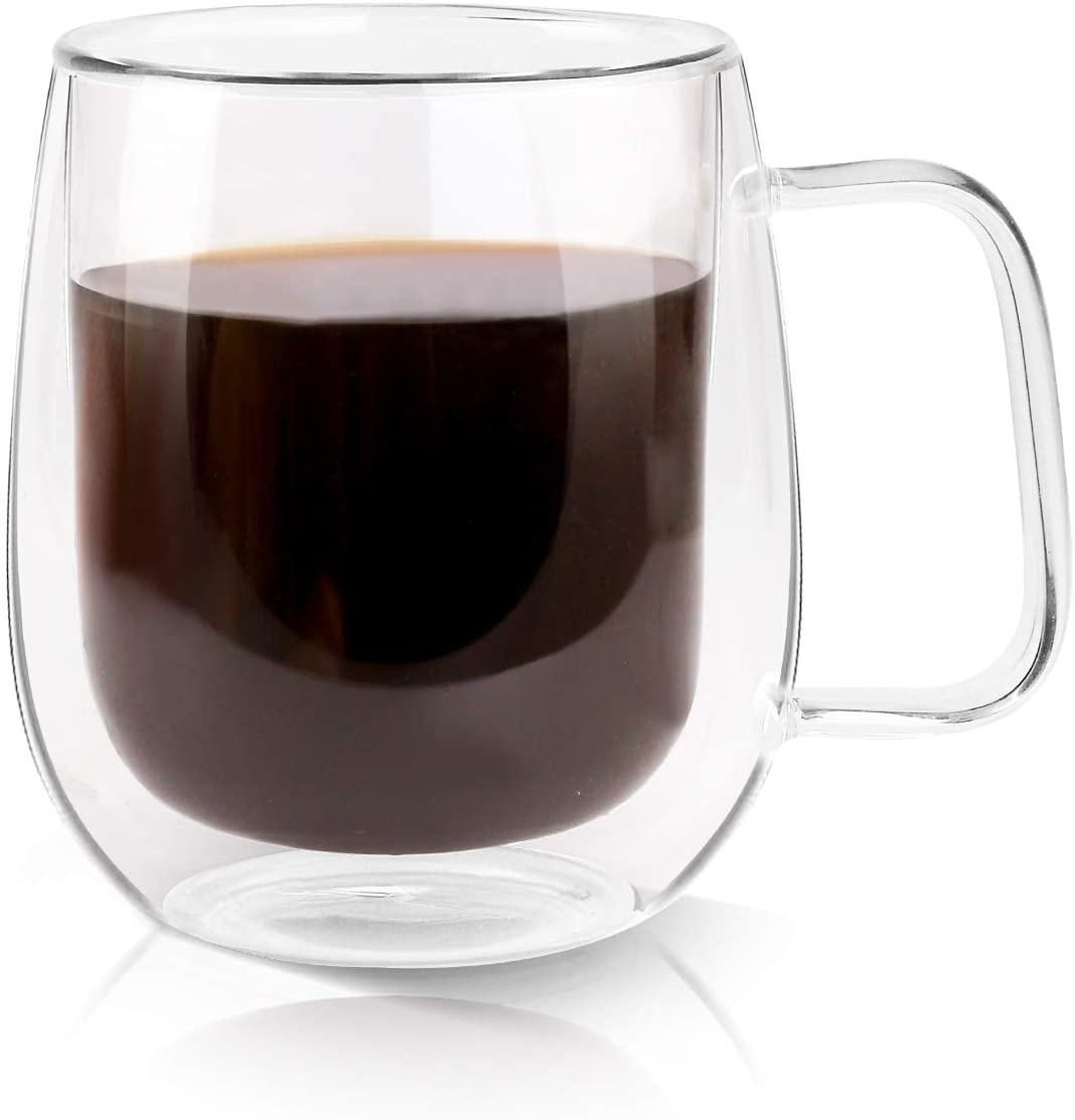 Growom Glass Double-Walled Espresso Cups