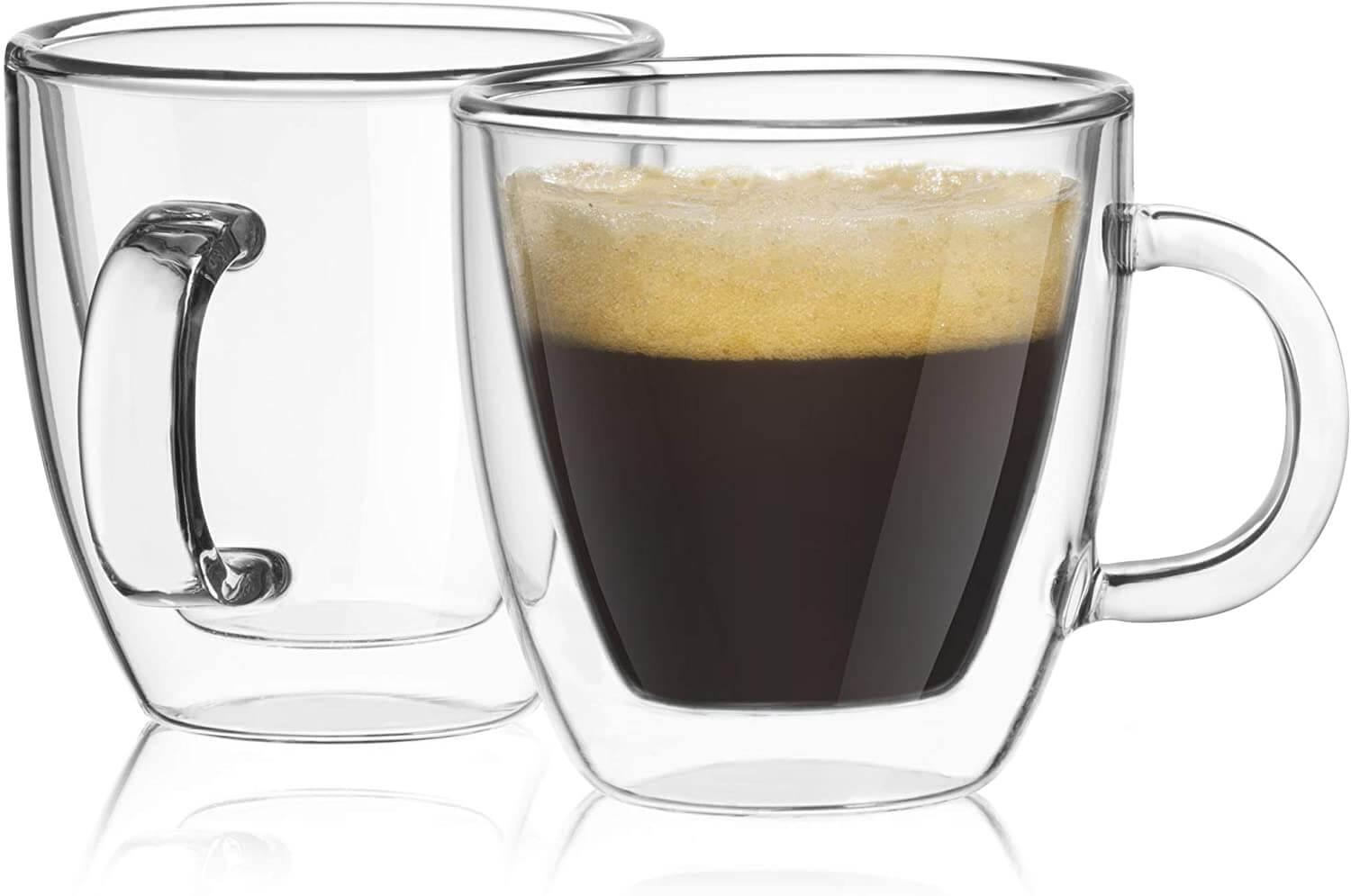 JoyJolt Savor Double-Wall Insulated Espresso Mugs