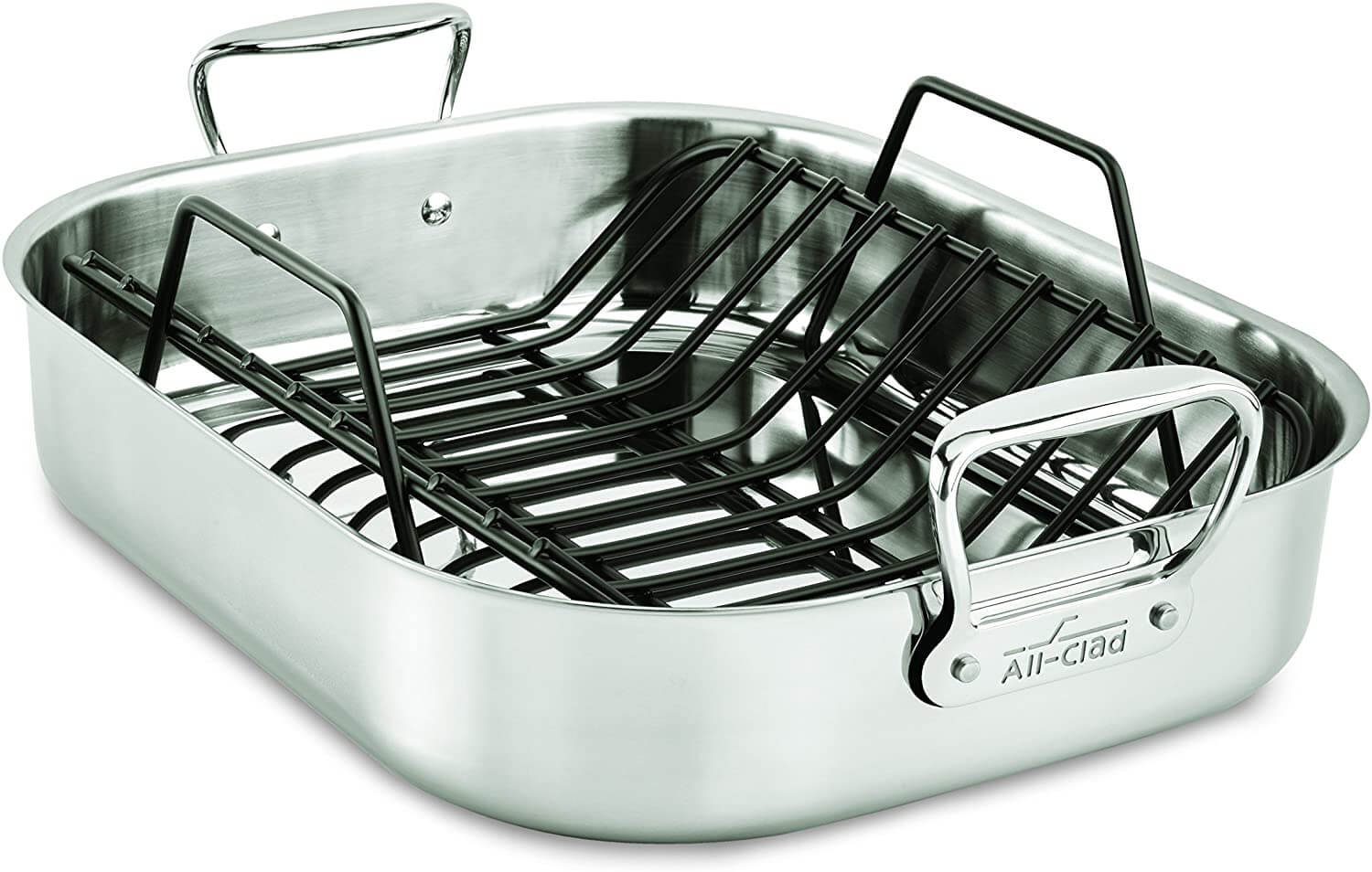 All-Clad E752C264 Stainless Steel Roaster with Nonstick Rack