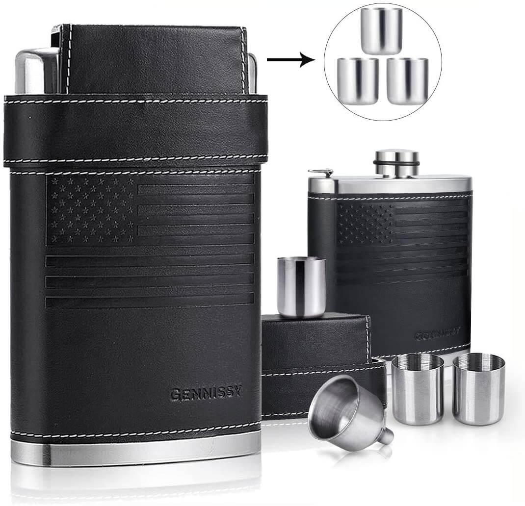 GENNISSY 100% Leak Proof Stainless Steel Flask