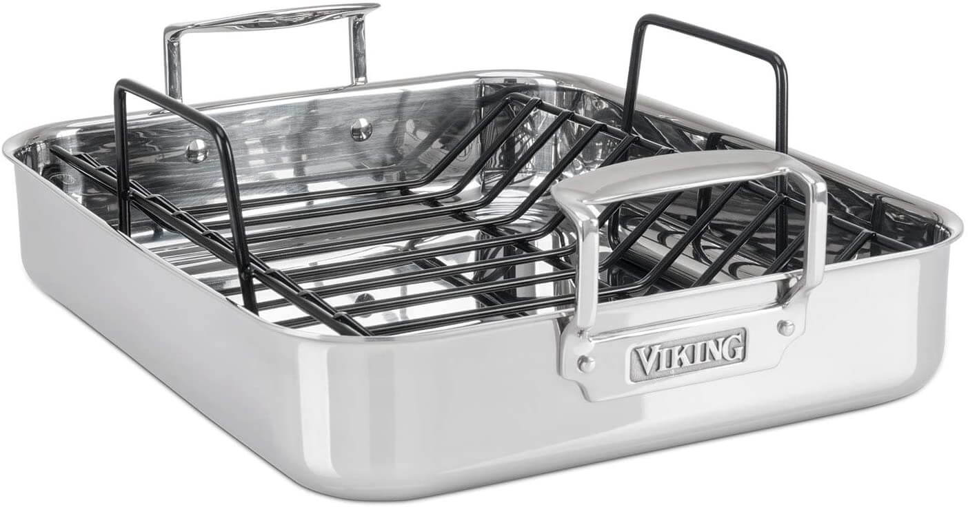 Viking Culinary 4013-5016 Stainless Steel Roasting Pan with Nonstick Rack