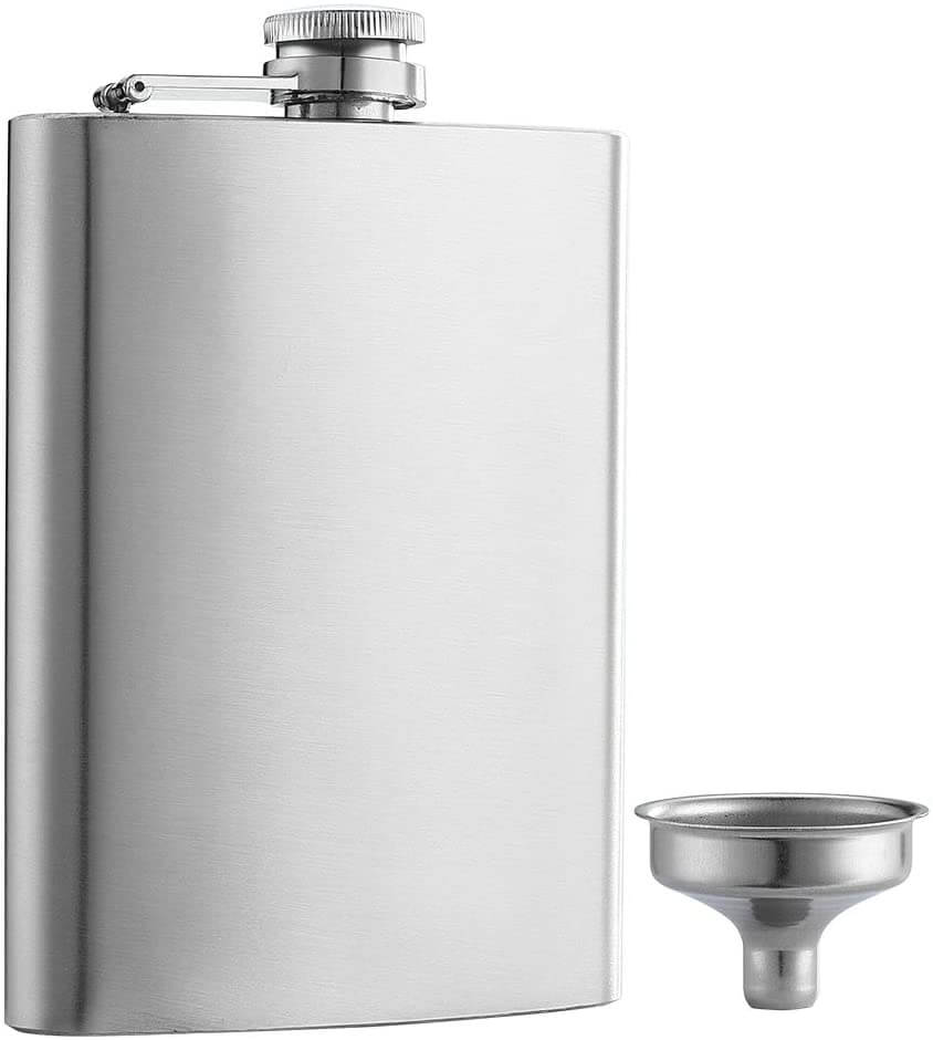 YWQ Solid Flasks Stainless Steel Flask & Funnel Set