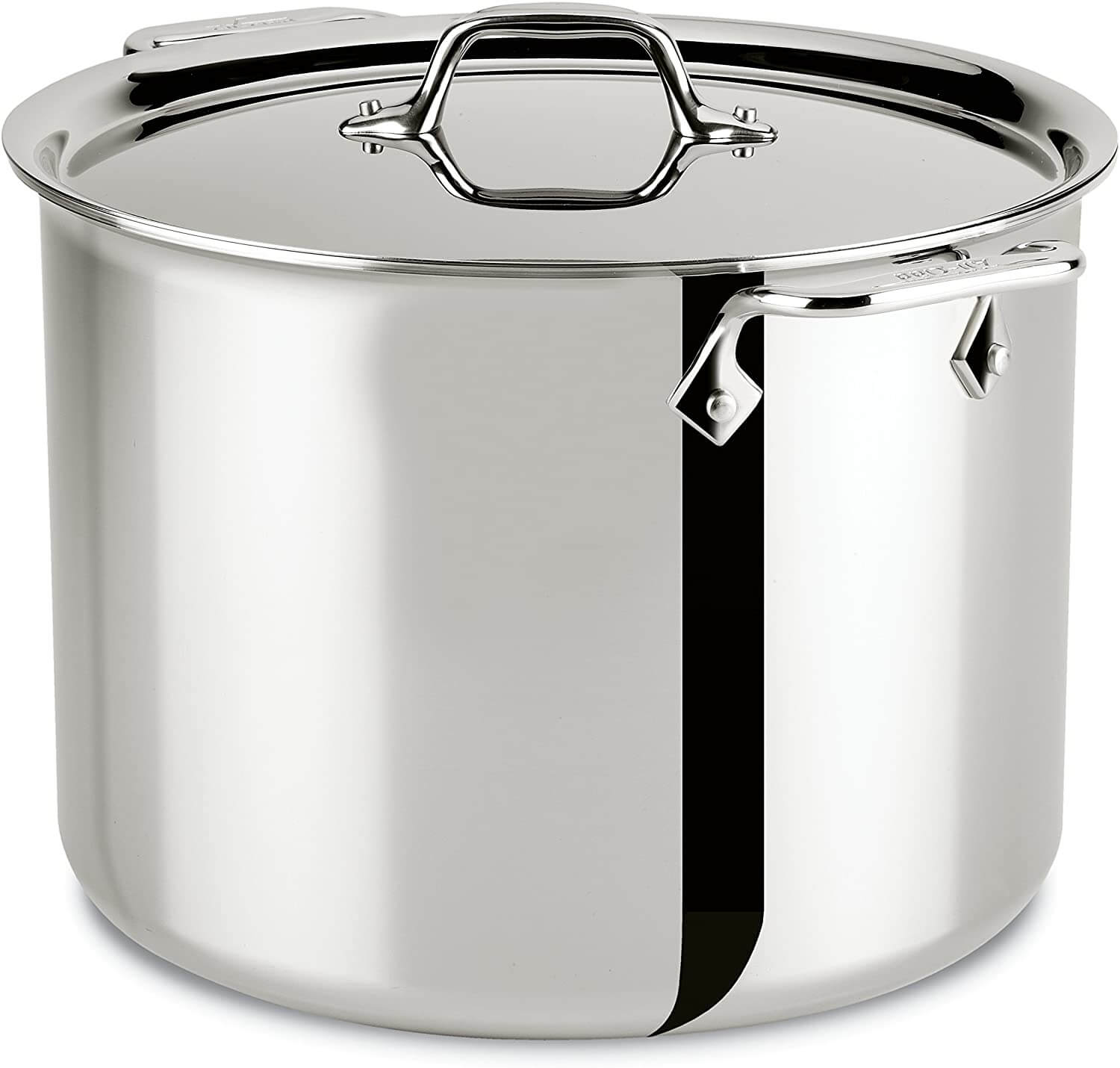 All-Clad 4512 Stainless Steel Tri-Ply Bonded Dishwasher Safe Stockpot