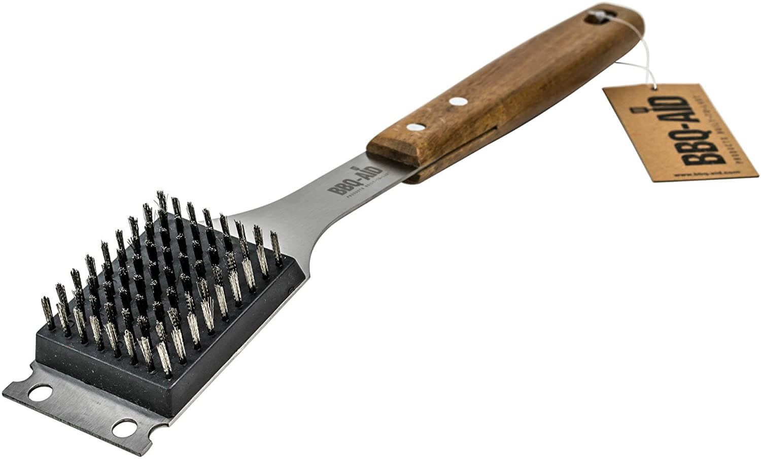 BBQ-Aid Barbecue Grill Brush and Scraper – Extended