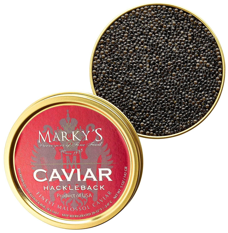 Marky's Hackleback Black American Sturgeon Caviar