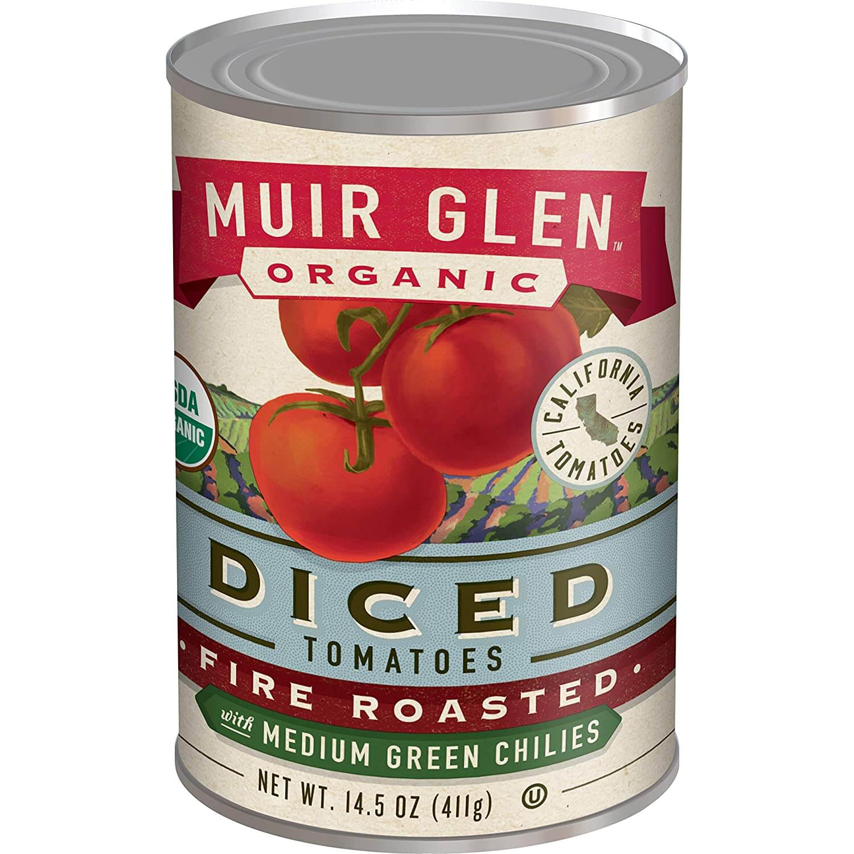 Muir Glen Organic Diced Fire Roasted Tomatoes