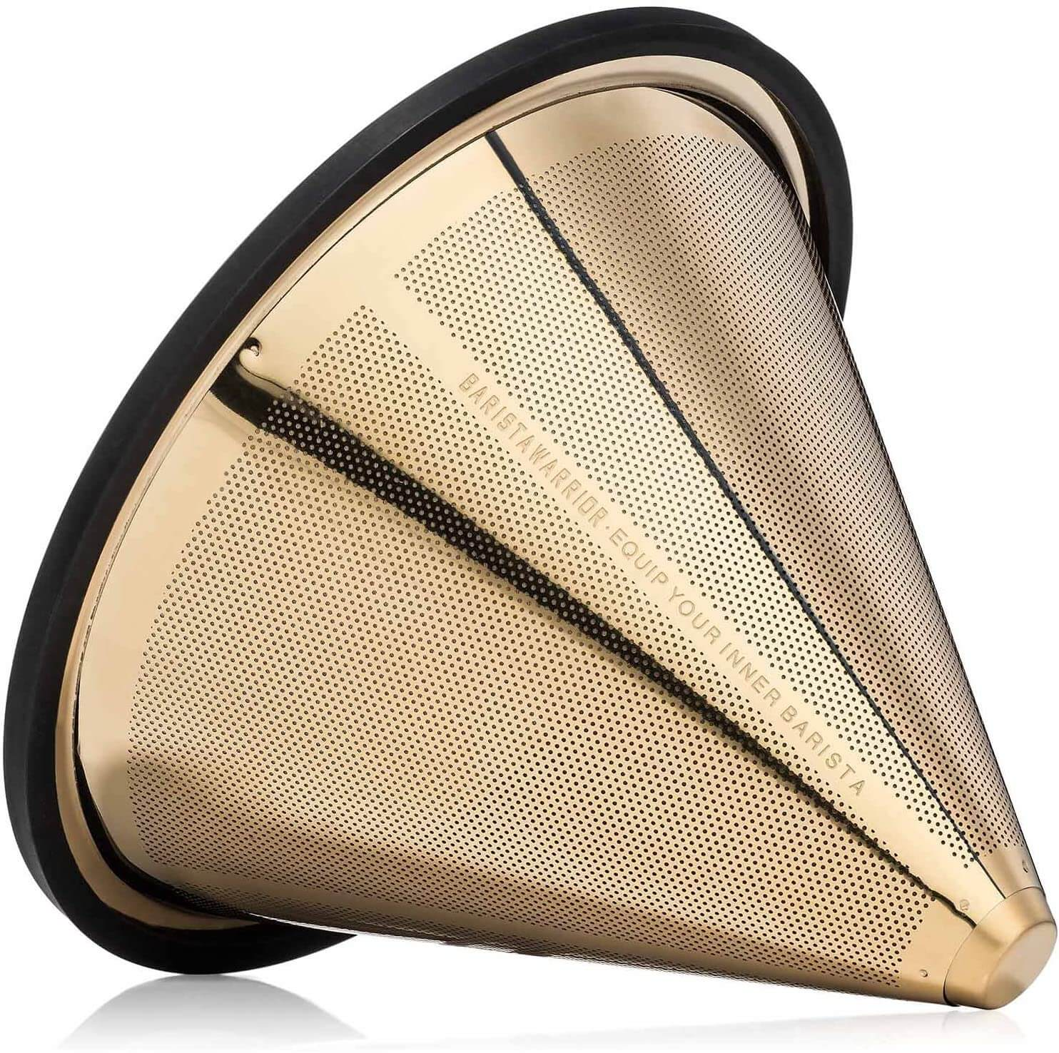 TITANIUM COATED GOLD Pour Over Coffee Filter